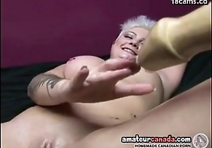 Geeky punk porn girl uses big sex toy insertions with girl