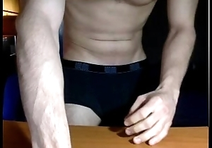 muscle guy shows off
