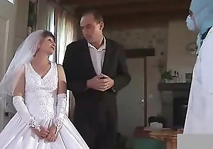 Granny fisted with wedding dress