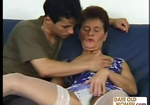 70 year old grandma seduce younger