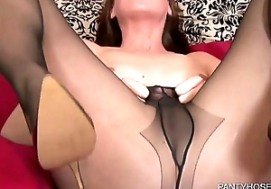 Masturbating Through Pantyhose