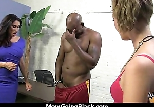 Watching a sexy milf going interracial 17