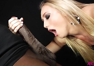 AJ sucking monster black cock then being fucked