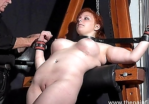 Swedish, amateur, submissive, Vicky Valkyrie, dungeon, bondage, whipping post, s