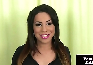 Firm butted latina femboy teases and jerk