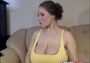Cute busty showing her nice tits
