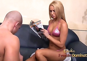 Aleska Diamond in bikini attacks her servants balls